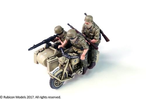 German Motorcycle R75 with Sidecar (DAK) (1:56th scale / 28mm)
