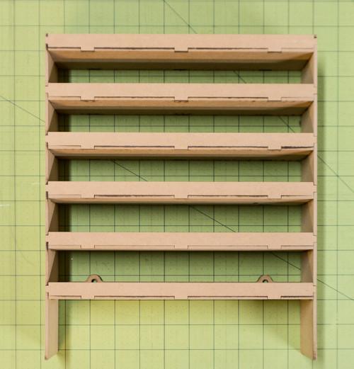 """Hanging Shelf Unit (10"""" Wide - 6 Shelves)"""