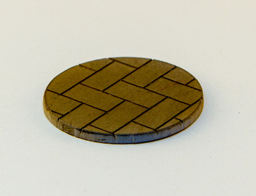 "25mm (1"") Bolt Action Small Bases (Herringbone) - 1/16"" Clear Acrylic"