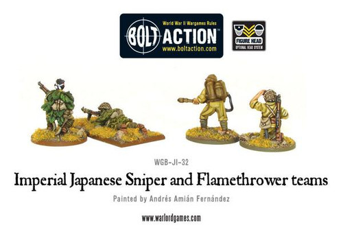 Bolt Action: Imperial Japanese Sniper and Flamethrower team