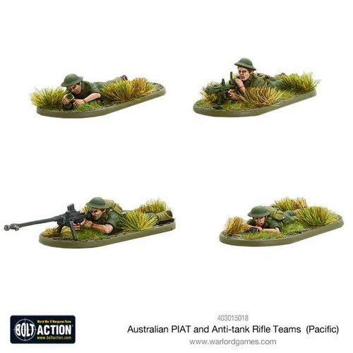 Bolt Action: Australian PIAT and Anti-tank Rifle Teams