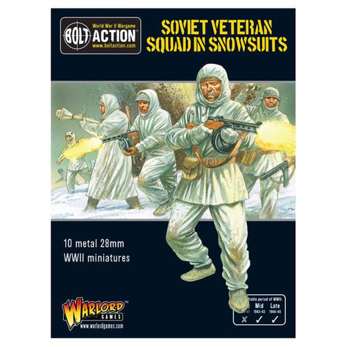 Bolt Action: Soviet Veteran Squad In Snowsuits