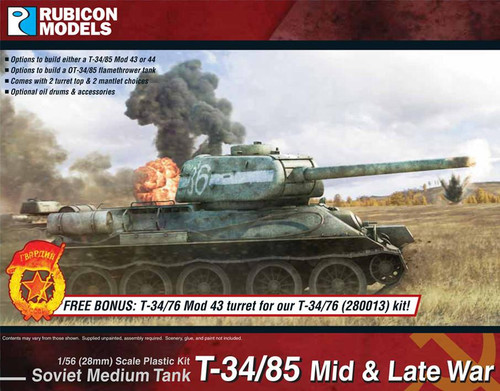 Rubicon Models T-34/85 Mid & Late War