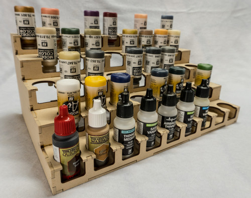 "Paint Rack - 26mm ""Upside Down"", For Vallejo and Army Painter Style Dropper Bottles"