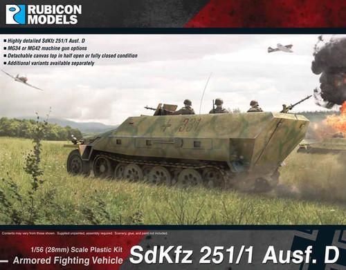 SdKfz 251/1 Ausf D (aka 251D) (1:56th scale / 28mm)