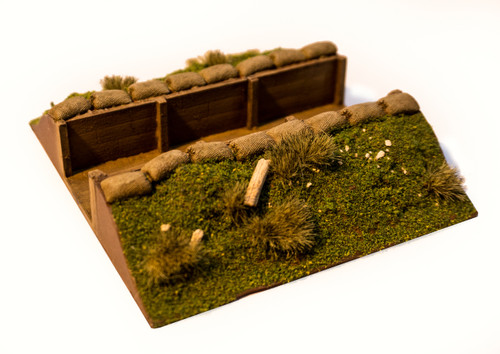 """4"""" Straight Trench Section (28mm Scale)"""