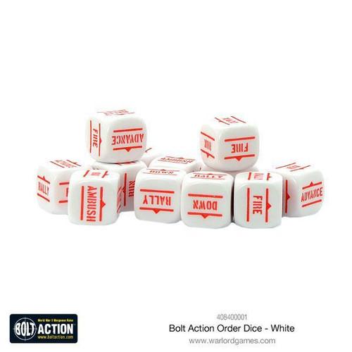 Bolt Action: Orders Dice Packs - White