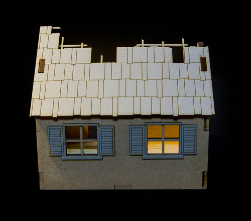 28mm Ruined Small Country Home - 28MMDF555