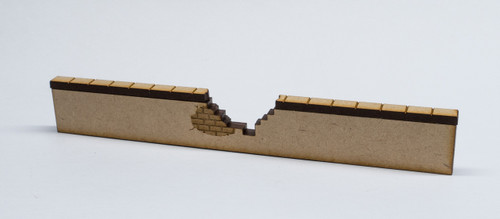 "28mm Scale Broken Wall Section - 6"" long - 28MMDF571"