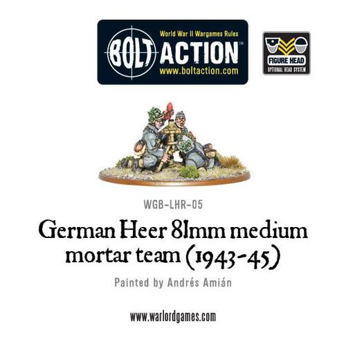 Bolt Action: German Heer 81mm medium mortar team (1943-45)