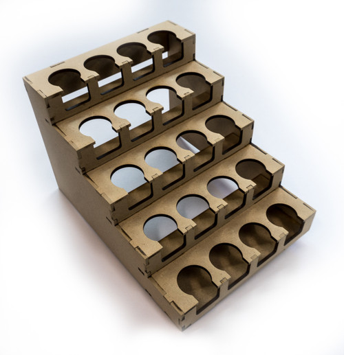 """Paint Rack - 26mm """"Half"""" for Vallejo and Army Painter Droppers"""