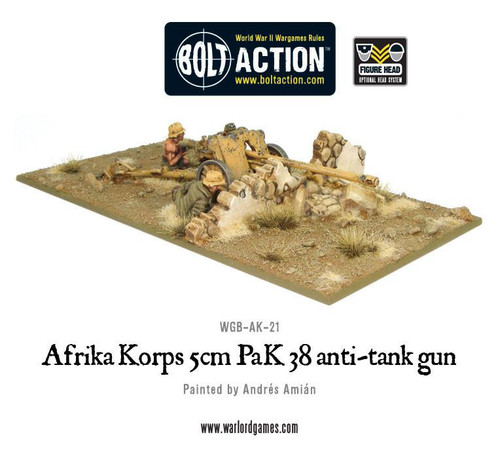 Bolt Action: Africa Korps 5cm Pak 38 AT Gun