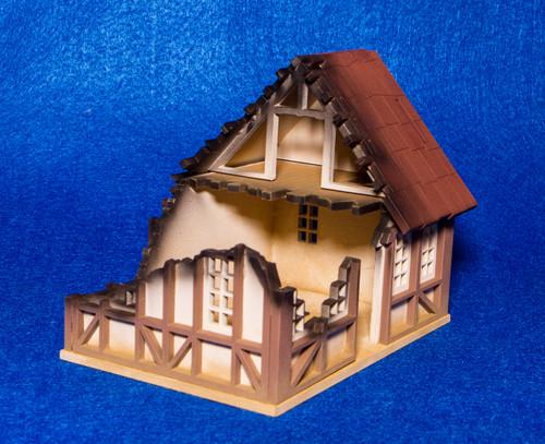 28mm Tudor House, Ruined - 28MMDF622