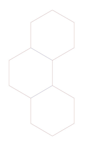 "Hex Bases,Curved Line of Three - (2"") HEX2-3C"