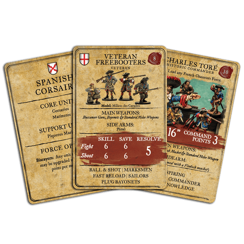 Blood and Plunder: Unit & Character Card Set