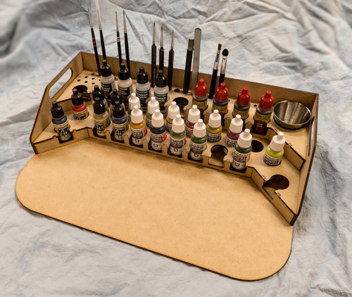 Painting Station - 26mm V2, For Vallejo and Army Painter Style Dropper Bottles