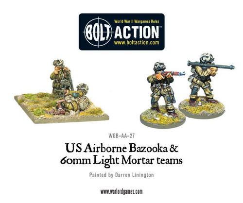 Bolt Action: US Airborne Bazooka and 60mm Light Mortar Teams