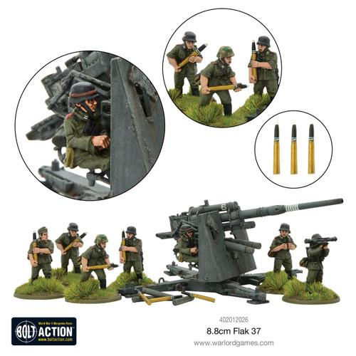 Bolt Action: German Army Flak 37 8.85cm (88mm)