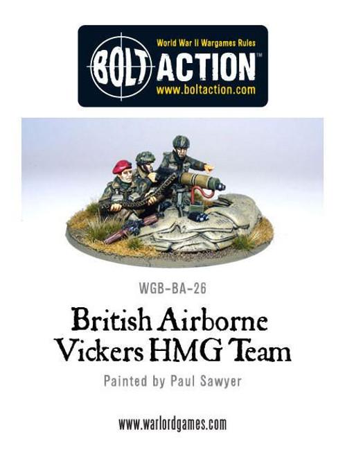 Bolt Action: British Airborne Vickers HMG & Crew