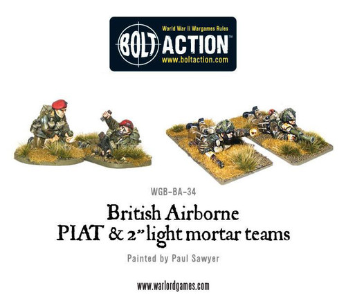 Bolt Action: British Airborne PIAT and Light Mortar team