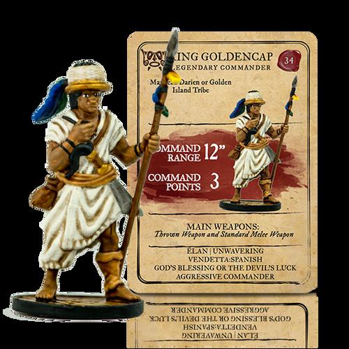 Blood & Plunder: Native American King Golden Cap Legendary Commander