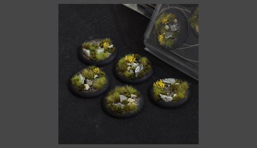 Battle Ready Bases: Highland Bases, Round Lip 40mm (x5)