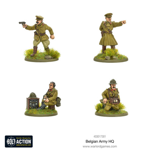 Bolt Action: Belgian Army HQ