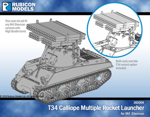 T34 Calliope Tank Mounted MRK for M4 Sherman - Resin