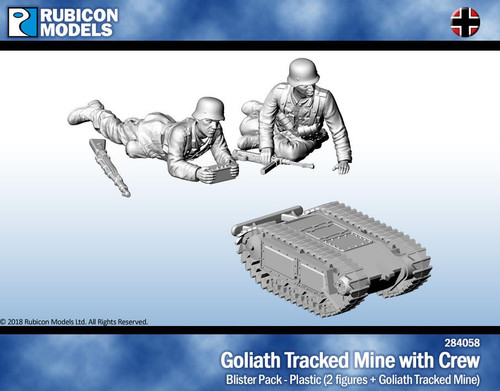 Rubicon Models Goliath Tracked Mine and Crew