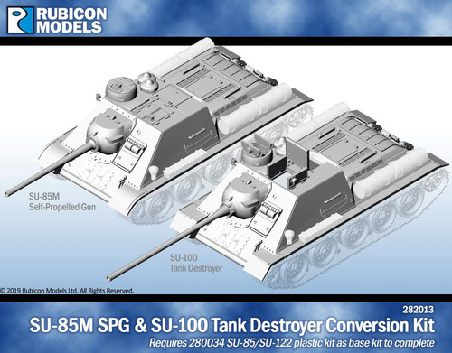 Rubicon Models SU-85M SPG/SU-100 Tank Destroyer Conversion Kit- Resin