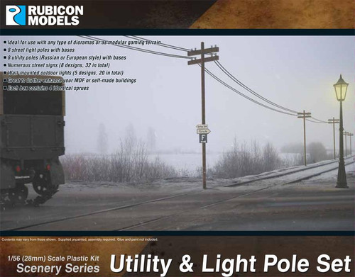 Rubicon Models Utility & Light Pole Set
