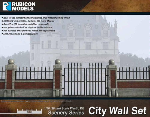 Rubicon Models City Wall Set
