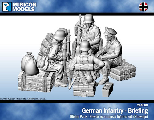 Rubicon Models German Infantry Briefing- Pewter