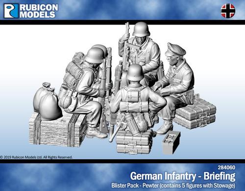 Rubicon Models German Infantry Briefing- Pewter