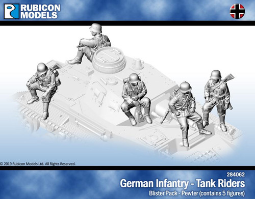 Rubicon Models German Infantry Tank Riders- Pewter