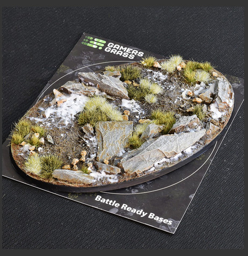 Battle Ready Bases - Winter Bases, Oval 170mm (x1)