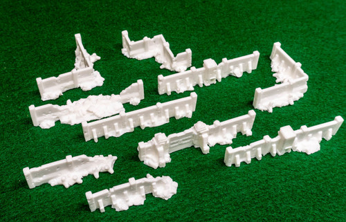 6mm (Epic) Fortress Wall Set  (Resin) - 285MEV148