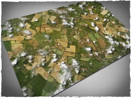 Game mat - Aerial Fields - Cloth, 4x6