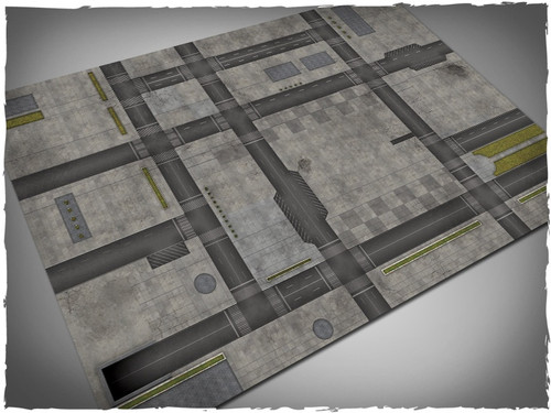 Game mat - Cityscape #1 - Cloth, 4x6