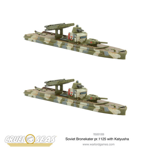 Cruel Seas: Soviet Bronekater pr.1125 with Katyusha