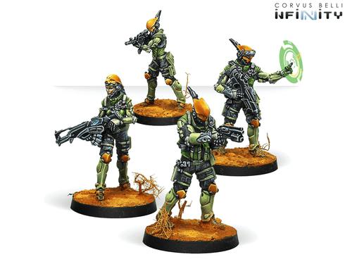Infinity (#686) Mercenaries: Druze Shock Teams (4)