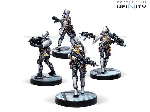 Infinity (#762) ALEPH: Yadu Troops (4)