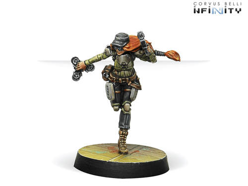 Infinity (#690): Mercenaries Warcors, War Correspondents (Stun Pistol)