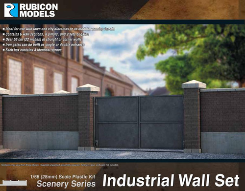 Rubicon Models Industrial Wall Set (1:56th scale / 28mm)