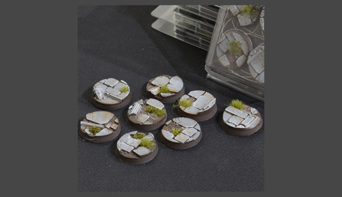 Battle Ready Bases: Temple Bases Round 32mm (x8)