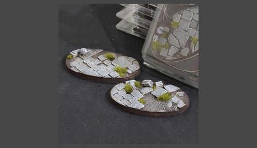 Battle Ready Bases: Temple Bases Oval 90mm (x2)