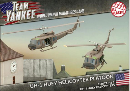 Team Yankee:  UH-1 Huey Transport Helicopters (2 x Plastic)