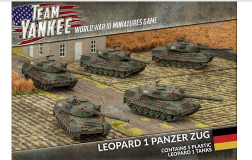 Team Yankee:  Leopard 1 Panzer Zug Platoon (5x Plastic Tanks)