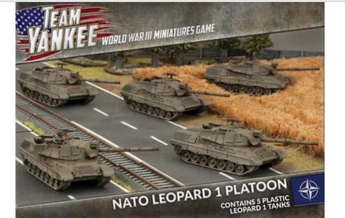 Team Yankee:  NATO Leopand 1 Platoon (x5 plastic tanks)