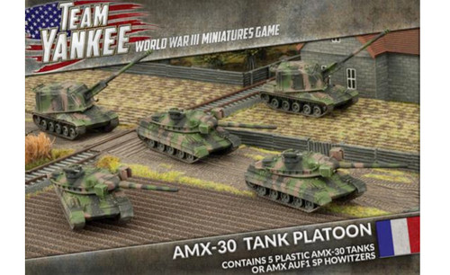 Team Yankee:  AMX-30 Tank Platoon (x5 plastic tanks)